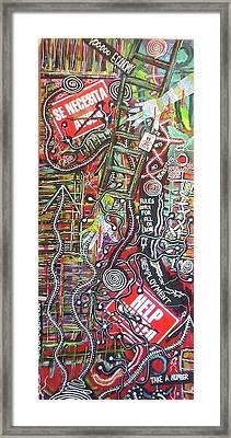 Voo Doo Economy Framed Print by Jay Lonewolf