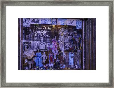 Voo Doo Window Framed Print