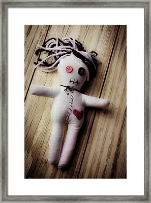 Voodoo Doll Framed Print by Garry Gay