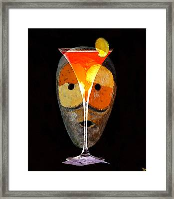 Framed Print featuring the painting Voodoo Martini by David Lee Thompson