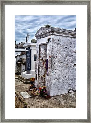 Voodoo Queen Marie Laveau's Tomb Framed Print by Bill Cannon