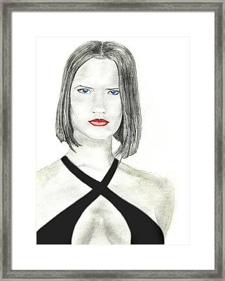 Framed Print featuring the drawing Vornehm by Michael McKenzie