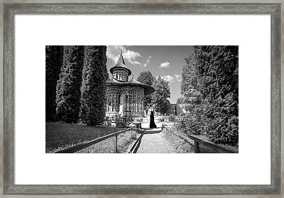 Voronet Monastery - Romania - Black And White Photography Framed Print by Giuseppe Milo