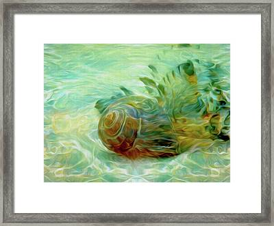 Framed Print featuring the mixed media Vortex 8 by Lynda Lehmann