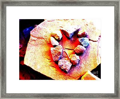 Vortex Heart Red Rocks Framed Print