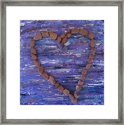Vortex Heart Sedona Blue Framed Print