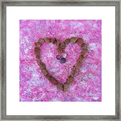 Vortex Heart Sedona Pink Framed Print
