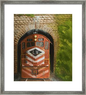 Vosburg Tunnel Framed Print by Christopher Jenkins