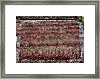 Vote Against Prohibition 2 Framed Print by Paul Ward
