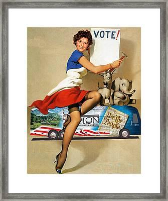 Vote For Sarah Framed Print by Viktor Savchenko