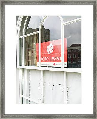Vote Leave Framed Print by Tom Gowanlock