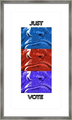 Vote Your Choice Framed Print