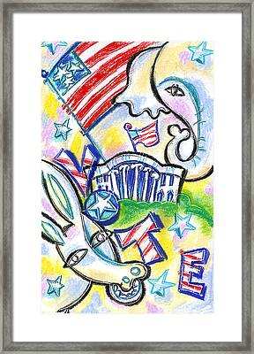 Voting For Political Party Framed Print by Leon Zernitsky