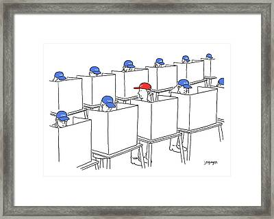 Voting In The 2017 Election Framed Print by Jeremy Nguyen