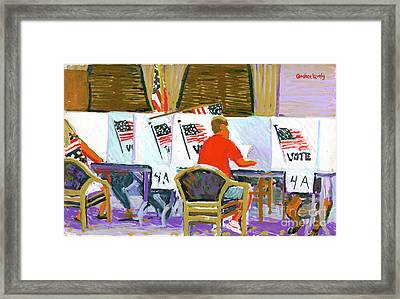 Voting On Hilton Head Island 2004 Framed Print by Candace Lovely