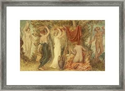 Votive Offerings   Classical Scene Framed Print by Edward Calvert