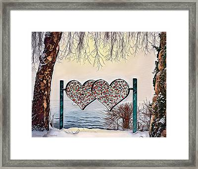 Framed Print featuring the digital art Vow Of Love by Pennie McCracken