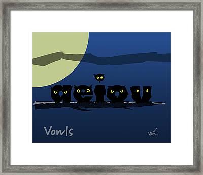 Vowls Framed Print