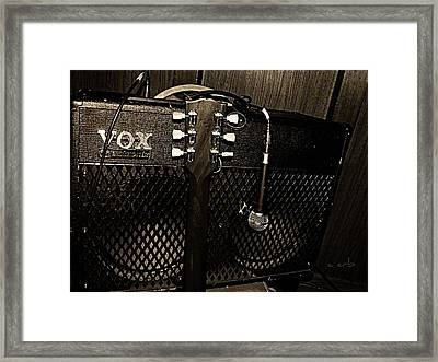 Vox Amp Framed Print by Chris Berry