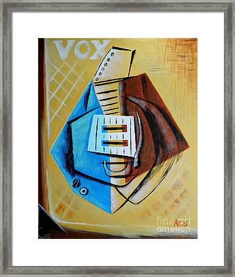 Vox Pops Guitar Framed Print