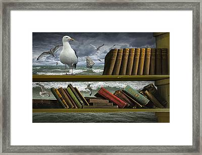 Voyage Into The World Of Books Framed Print by Randall Nyhof