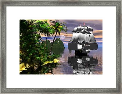 Voyage Of Captain Cook Framed Print by Claude McCoy