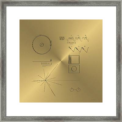 Voyager Golden Record Cover Framed Print by Serge Averbukh
