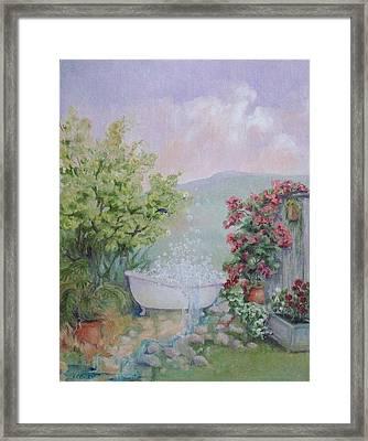 Voyeur At The Secret Garden Health And Beauty Spa Framed Print