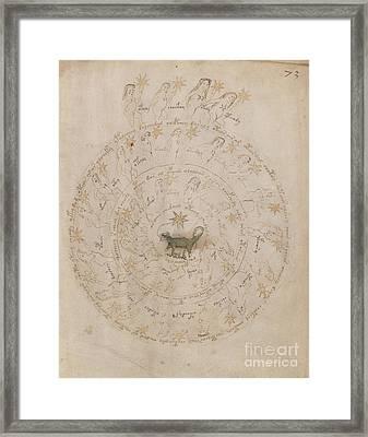Voynich Manuscript Astro Scorpio Framed Print