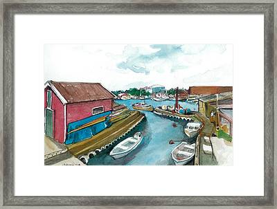 Framed Print featuring the painting Vp Norway 5 Thorsastraen by Lynn Babineau