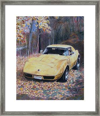 Framed Print featuring the mixed media Vrooom by Constance Drescher