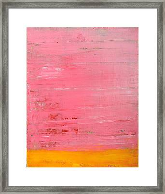 Pink Oil On Board 16 X 20 Framed Print