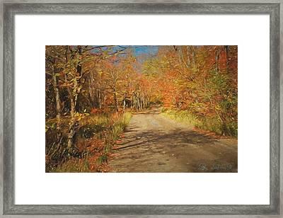 Framed Print featuring the digital art Vt.rte. Fifty Eight Hazen  Notch by John Selmer Sr
