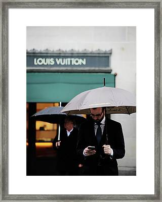 Framed Print featuring the photograph Vuitton by Empty Wall