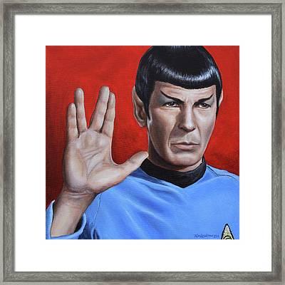 Vulcan Farewell Framed Print by Kim Lockman