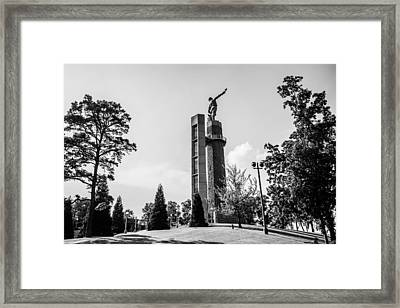 Vulcan In Black And White Framed Print by Parker Cunningham