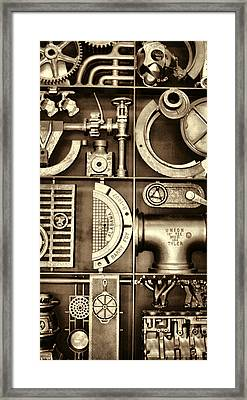 Vulcan Steel Steampunk Ironworks Framed Print by Kathy Clark