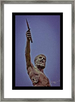 Vulcan Spear Poster Framed Print