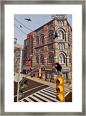 Vultures On Main Street Framed Print by Peter J Sucy