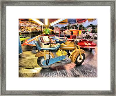 Vvvrrooom Framed Print by Elizabeth Dow