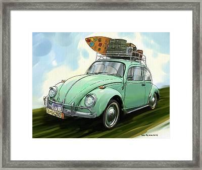 Vw Beach Bug Framed Print by RG McMahon