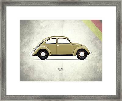 Vw Beetle 1946 Framed Print by Mark Rogan