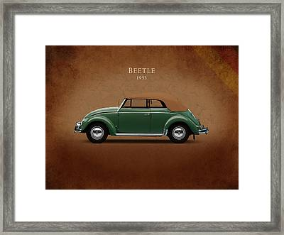 Vw Beetle 1953 Framed Print