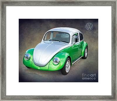 Vw Beetle By Darrell Hutto Framed Print by J Darrell Hutto