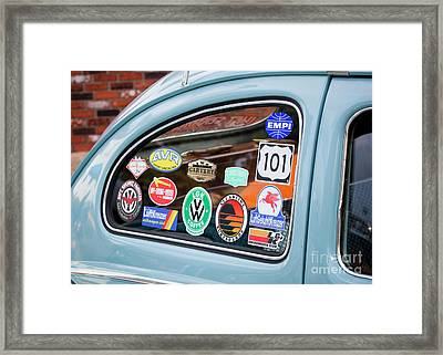Framed Print featuring the photograph Vw Club by Chris Dutton
