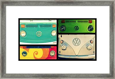 Vw Collage Framed Print