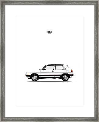 Vw Golf Gti Framed Print by Mark Rogan