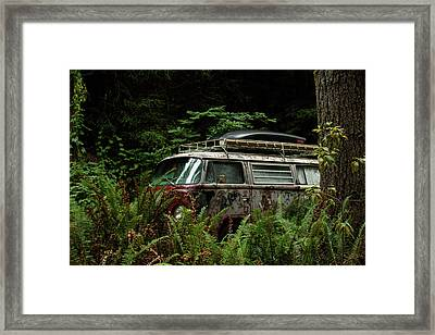 Vw Hides In The Woods Framed Print by Richard Kimbrough