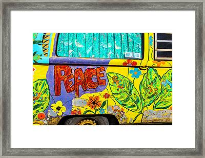 Vw Peace Van Framed Print