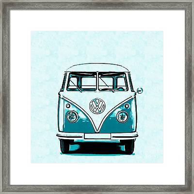 Vw Van Graphic Artwork Framed Print by Edward Fielding